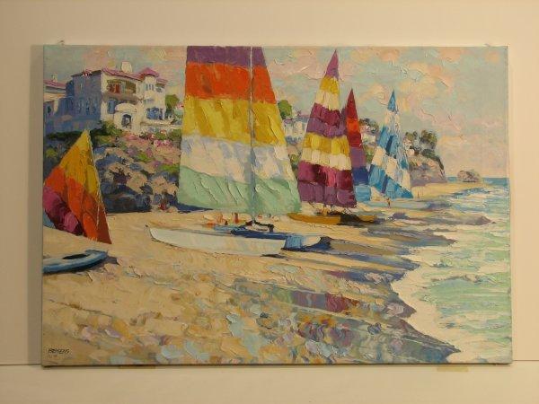 5622: Howard Behrens Hand Embellished Canvas Sign/Numbe