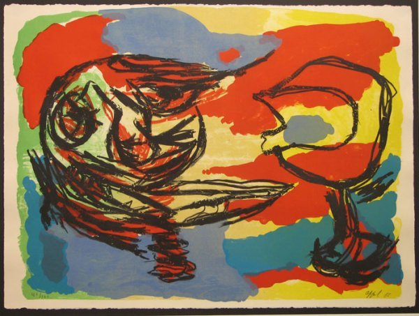 9: Karel Appel 1965 Lithograph Pencil Signed & Numbered