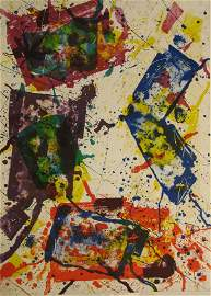 96: Sam Francis Lithograph Pencil Signed & Numbered