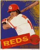 313A: Andy Warhol Pete Rose Pencil Signed & Numbered