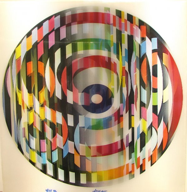 1002: Yaacov Agam Agamograph Signed & Numbered