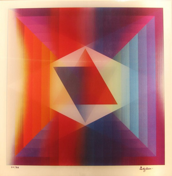 1004: Yaacov Agam Agamograph Signed & Numbered