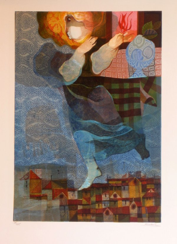 1008: Alvar Embossed Lithograph Signed Numbered Certifi