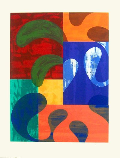 1018: Chuck Arnoldi Lithograph on Board Signed & Number