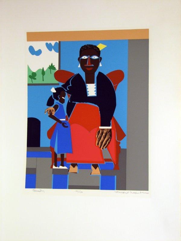 1023: Romare Bearden African American Art Signed & Numb