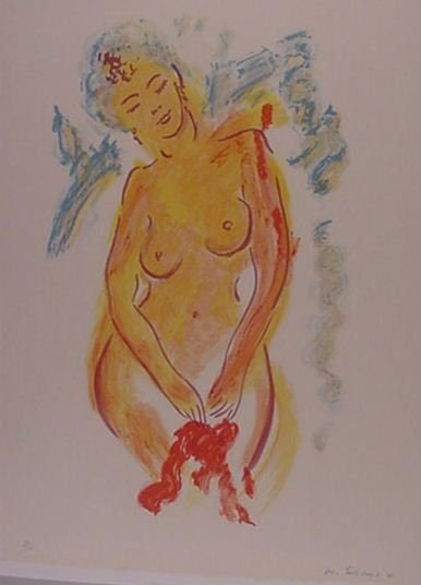 1088: Wayne Ensrud Nude Lithograph Pencil Signed & Numb