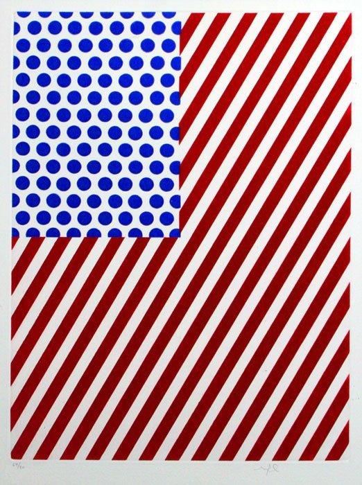 1151: Roy Lichtenstein American Flag Signed & Numbered