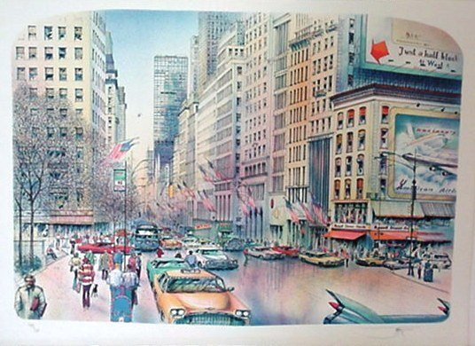 118: New York City Litho Pencil Signed & Numbered