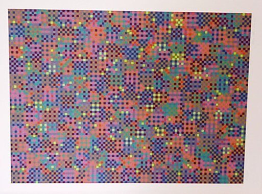 119: Tony Bechara Optical Art Signed/Numbered (Vasarely