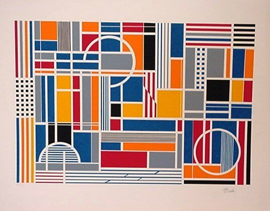120: Beker Optical Art Signed/Numbered (Vasarely Style)