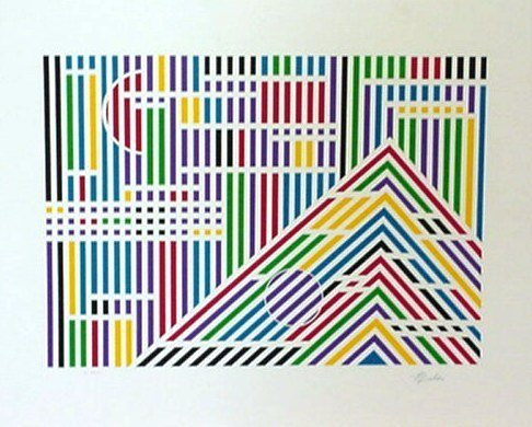 121: Beker Optical Art Signed/Numbered (Vasarely Style)