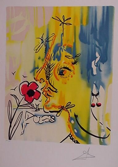 177: Dali Surrealist Flowers 2 Piece Suite Signed & Num - 2