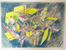 194 Roberto Matta Lithograph Signed  Numbered