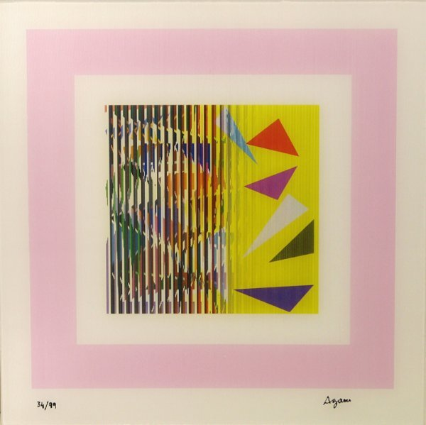 1404: Yaacov Agam Agamograph Signed & Numbered
