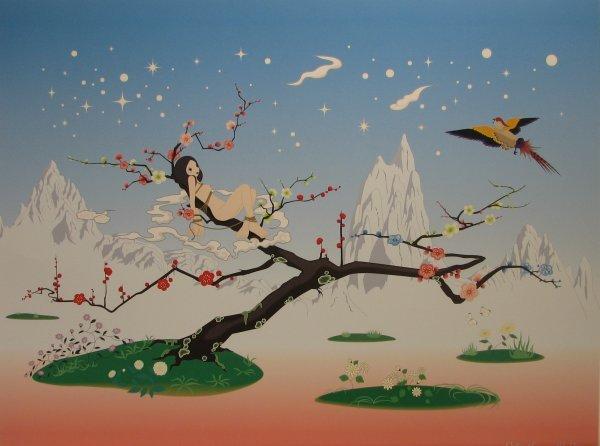1411: Chiho Aoshima (Murakami Studio) Lithograph Signed