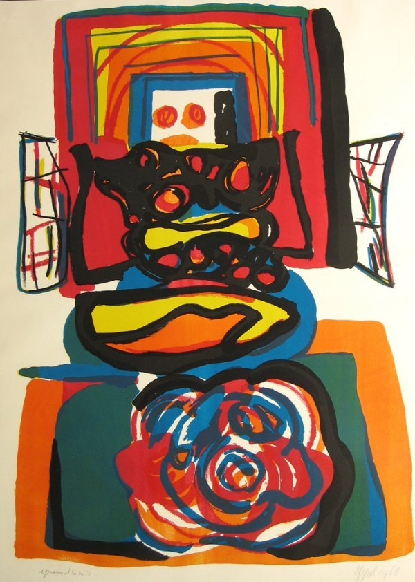 1417: Karel Appel Lithograph Pencil Signed & Numbered