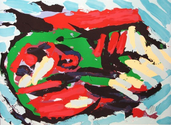 1418: Karel Appel Lithograph Pencil Signed & Numbered