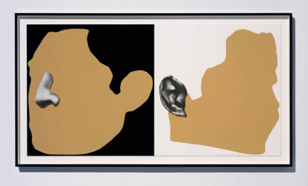 1421: John Baldessari 3-D Construction Nose & Ears