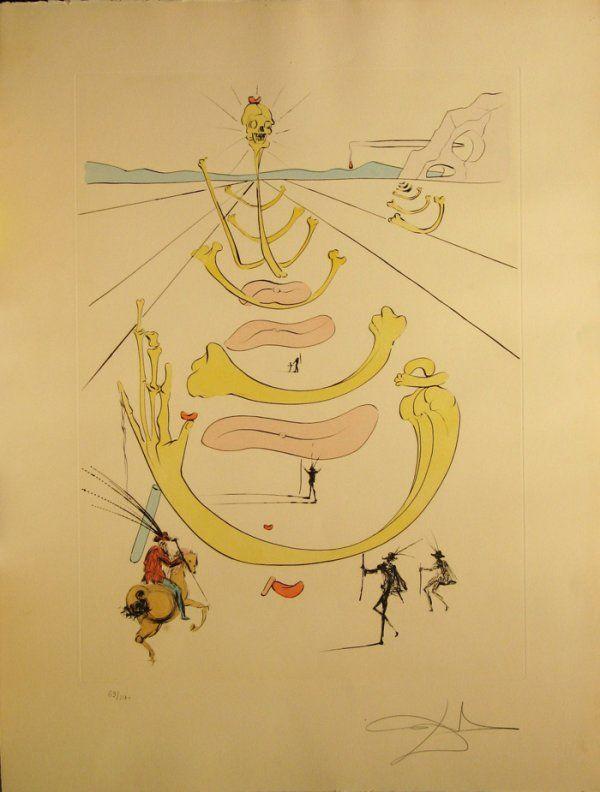 1491: Salvador Dali Engraving Signed & Numbered *Certif