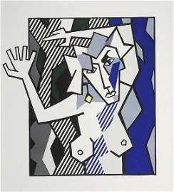 1621: Roy Lichtenstein Nude Woodcut Signed & Numbered
