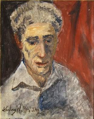 1787: Abraham Walkowitz Portrait of Giacometti Oil on C