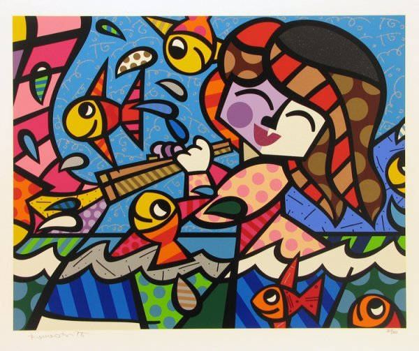 2020: Romero Britto Serigraph Pencil Signed & Numbered
