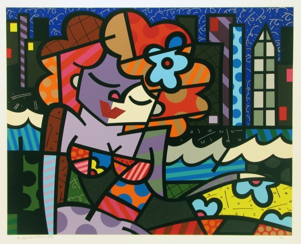 2021: Romero Britto Serigraph Pencil Signed & Numbered