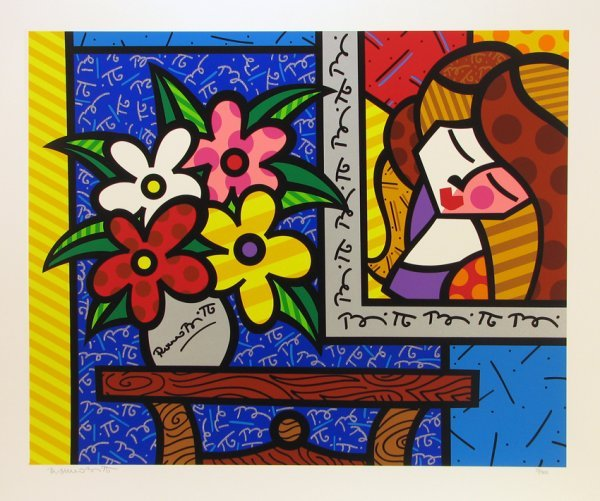 2022: Romero Britto Serigraph Pencil Signed & Numbered