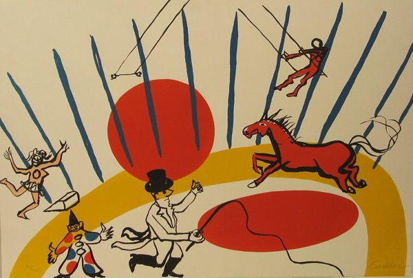 2027: Alexander Calder Circus Lithograph Signed & Numbe