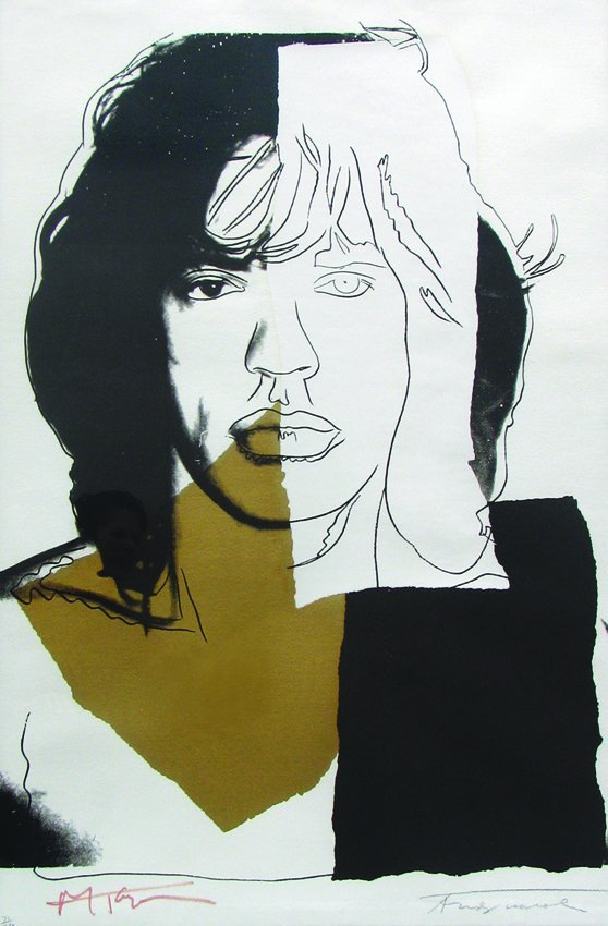 2294: Andy Warhol Mick Jagger Pencil Signed & Numbered