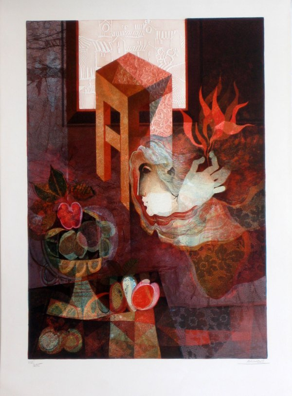 1005: Alvar Embossed Lithograph Signed Numbered Certifi