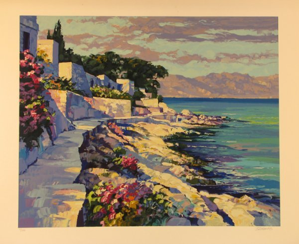 1021: Howard Behrens Serigraph Signed & Numbered Huge P