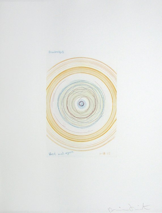 1136: Damien Hirst Spin Etching Aquatint Pencil Signed
