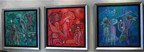 1204 Roberto Matta 3 piece set of Carborundum Etchings