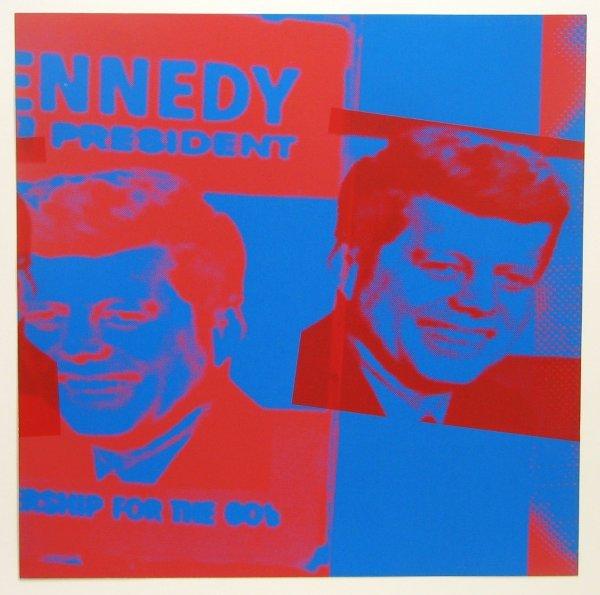 1344: Andy Warhol John F. Kennedy Flash Portfolio Sign/