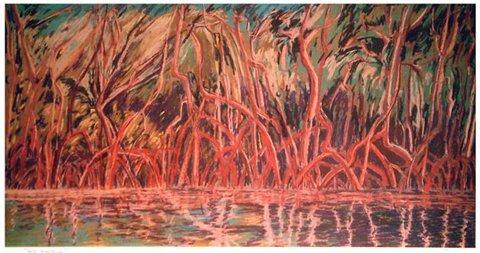 1004B: Janinne Aronov Alter Impressionist Lithograph Si