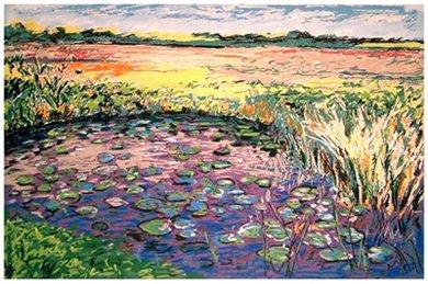 1004D: Janinne Aronov Alter Impressionist Lithograph Si