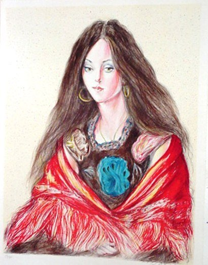507: Woman with Shawl Signed & Numbered