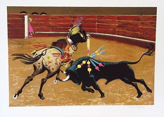524: Boyle Bullfight Spain Pencil Signed & Numbered