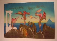 589 Roberto Matta Etching Aquatint Signed  Numbered