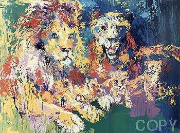 606: Leroy Neiman Lion Pencil Signed & Numbered