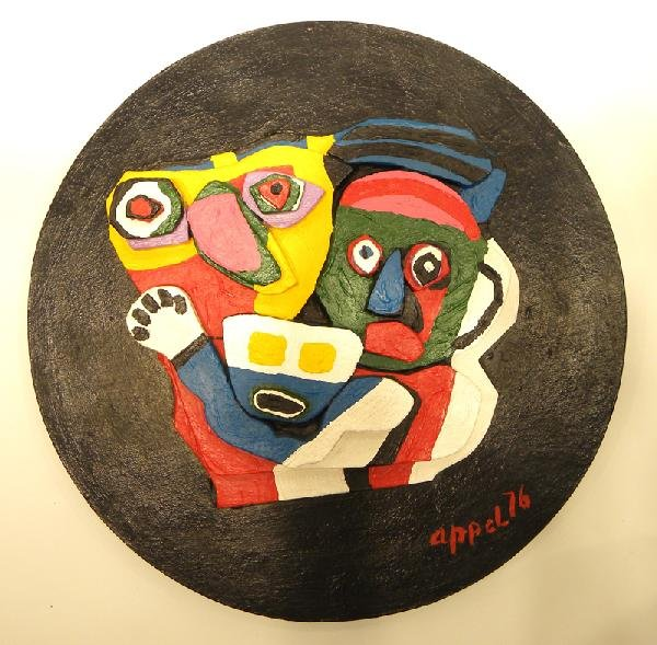 2011: Karel Appel Painted Wall Sculpture Signed & Numbe