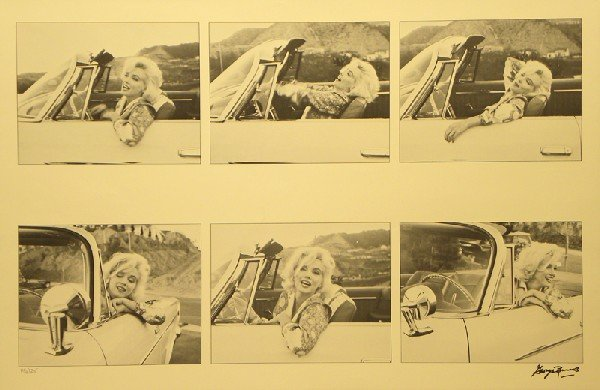 2021: George Barris Photo of Marilyn Monroe Sign & Numb