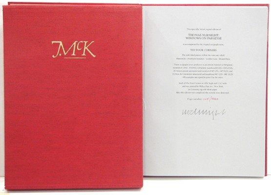 2252: Thomas McKnight Book Pencil Signed Limited Editio - 2