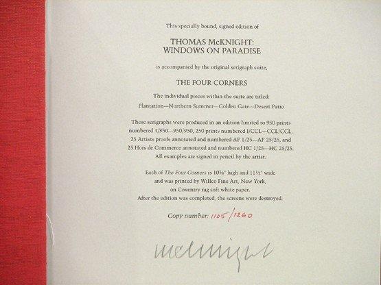 2252: Thomas McKnight Book Pencil Signed Limited Editio - 3