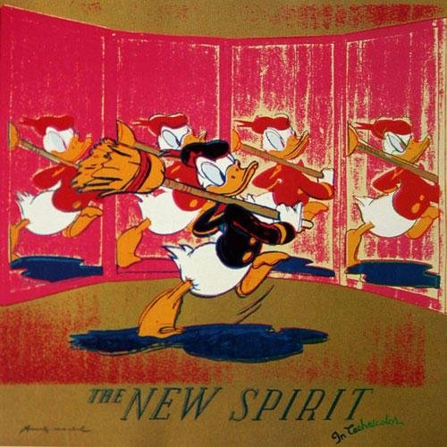 2390: Andy Warhol New Spirit Donald Duck Signed & Numbe