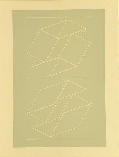 3303: Josef Albers Silkscreen Pencil Signed & Numbered
