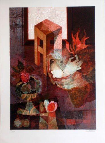 3304: Alvar Embossed Lithograph Signed Numbered Certifi