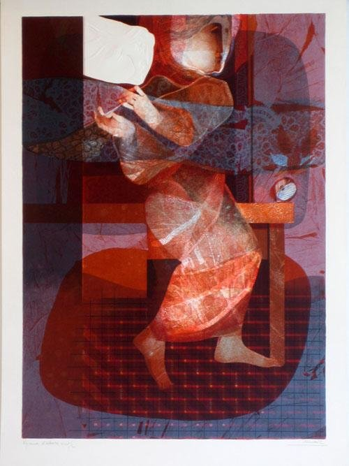 3305: Alvar Embossed Lithograph Signed Numbered Certifi