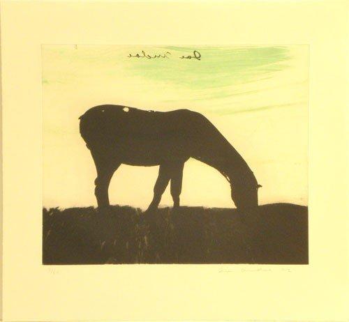 3306: Joe Andoe Horse Etching Signed & Numbered